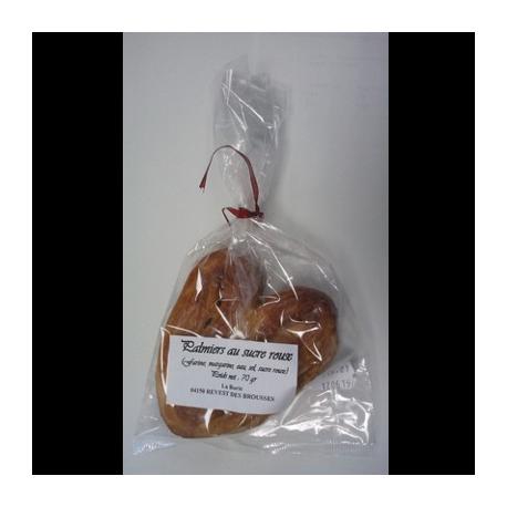 Palmiers au sucre roux 140g - La Borie