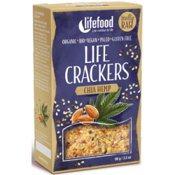 Crackers crus chanvre et chia 90g