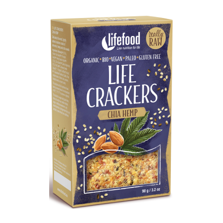 Crackers crus chanvre & chia 90g