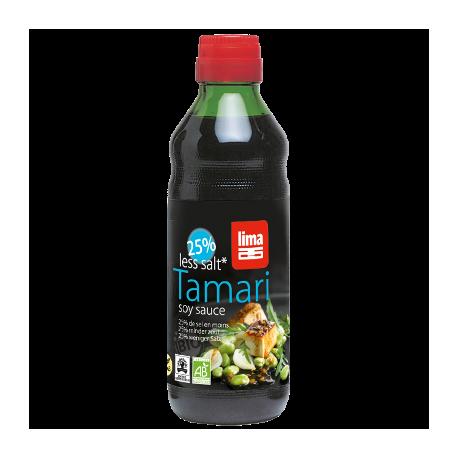Sauce tamari 25% de sel en moins 250ml