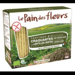 Tartines craquantes aux lentilles vertes 150g