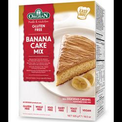 Préparation pour gâteau à la banane avec glaçage