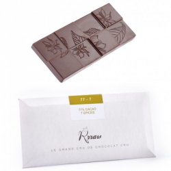 Tablette chocolat cru épices 45g
