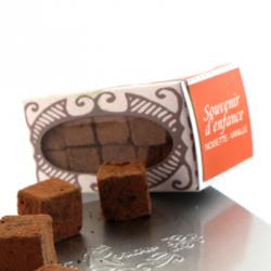 Souvenir d'enfance - Cubes noisette vanille 55g