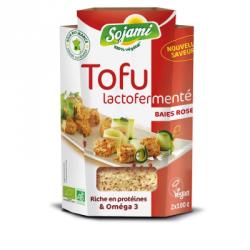 Tofu lactofermenté aux baies roses 200g