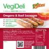 Saucisses végétales à l'origan et au basilic 300g