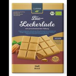 Chocolat blanc fourré noisette 90g