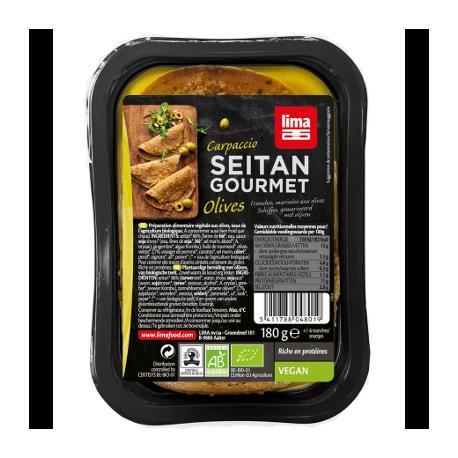 Carpaccio de seitan aux olives 180g