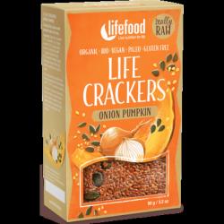 Crackers oignons et graines de courge 90g - Lifefood