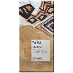 Chocolat noir supérieur Équateur 70% 100g - Vivani