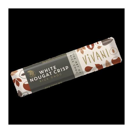 Barre chocolat blanc nougat croquant 35g