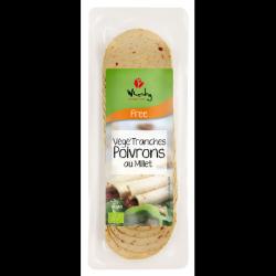 Végé'Tranches Poivrons au Millet 100g
