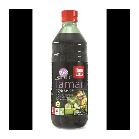 Sauce soja tamari 50% de sel en moins 250ml - Lima