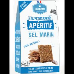 Les petits carrés - apéritif - sel marin 90g - Granomy