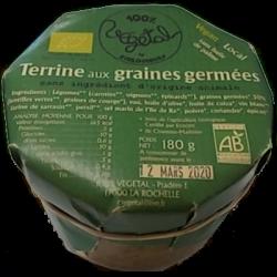 Terrines aux graines germées 180g