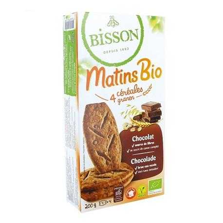Matins bio 4 céréales au chocolat 200g