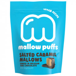 Marshmallows caramel salé enrobés de chocolat noir - Mallow Puffs
