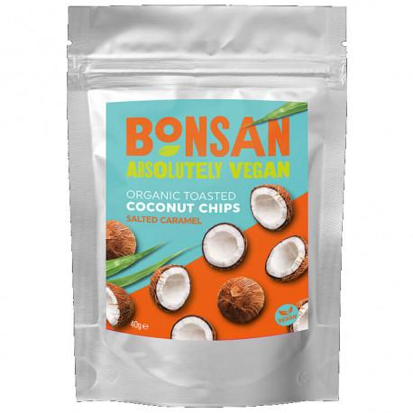 Copeaux de noix de coco au caramel salé 40g - Bonsan