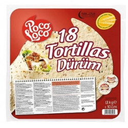 18 tortilles 1,8kg