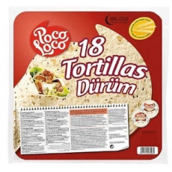 18 tortilles 25 cm 1.240kg