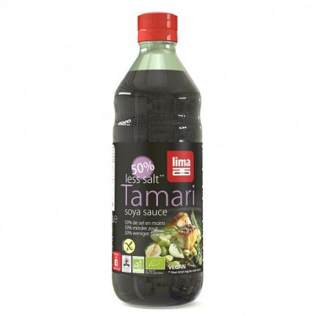 Sauce soja tamari 50% de sel en moins 500ml