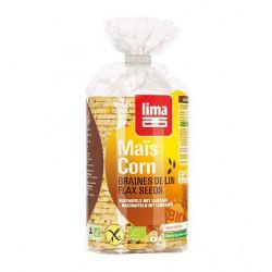 Galettes de maïs aux graines de lin 130g