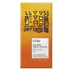 Chocolat noir 89% au gingembre et curcuma 100g