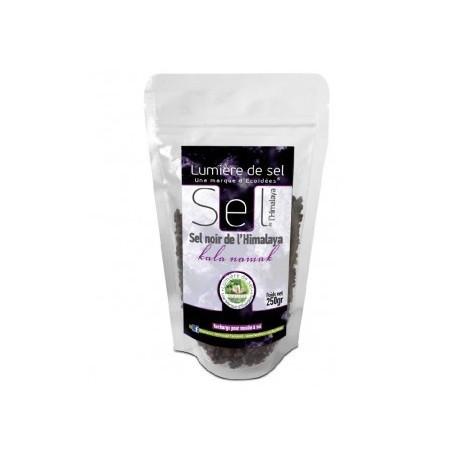 Kala namak sel noir de l'himalaya recharge 250g