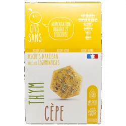 Biscuits apéro cèpe thym 100g - Cinq Sans