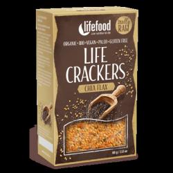Crackers graines de lin et chia sans sel 80g