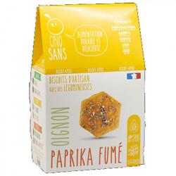 Biscuits apéro paprika fumé oignon 100g - Cinq Sans