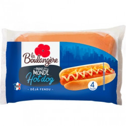 4 pains hot dog 250g
