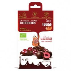 Cerises déshydratées enrobées chocolat 50g