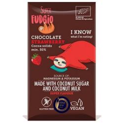 Tablette de chocolat au lait de coco fraise 80g