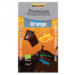 Chocolat noir 71% avec orange (bio)