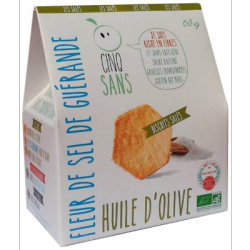 Biscuit apéritif à l'huile d'olive 65g