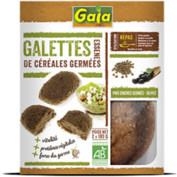 Galettes pois chiches germés - olives 200g